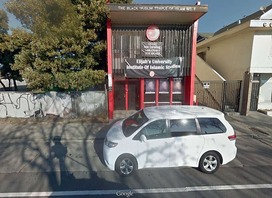 "Alameda County prosecutors say Dahood Sharrieff Bey and his mother, Rory Parker, ran a ""complex criminal enterprise"" out of the Black Muslim Temple of Islam No. 1 in Oakland that used fake documents to win lucrative private security contracts from government agencies. Photo: Google Maps"
