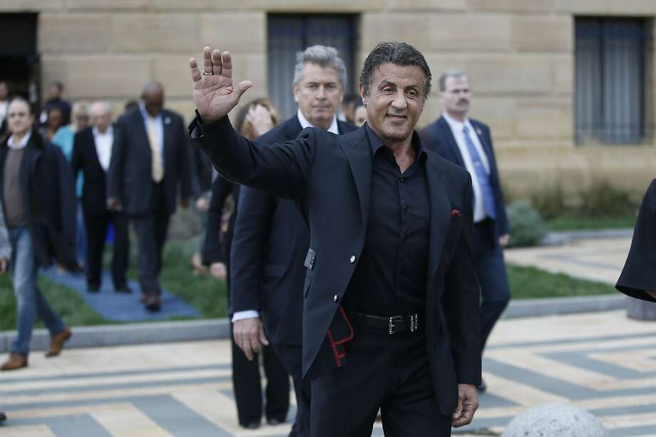 "Actor Sylvester Stallone at a press conference promoting the film ""Creed"" outside the Philadelphia Museum of Art, Friday, Nov. 6, 2015, in Philadelphia. (AP Photo/Matt Slocum) Photo: Matt Slocum, Associated Press"