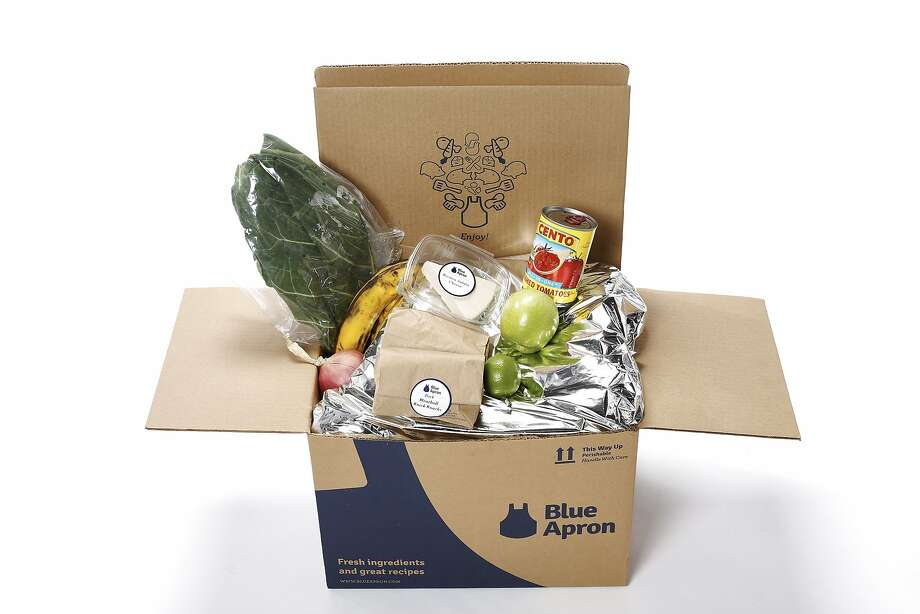 a blue apron box is seen on friday nov 6 2015 in san box san francisco office 6