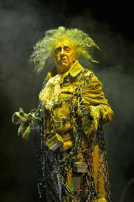 Ken Ruta as the ghost of Jacob Marley at ACT. Photo: Ken Berne