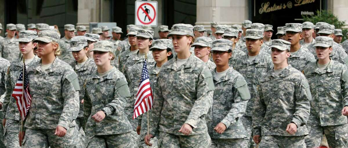 Members of the U.S. Army march Nov. 9, 2013 during the 13th annual Veterans Parade in downtown San Antonio, Texas.