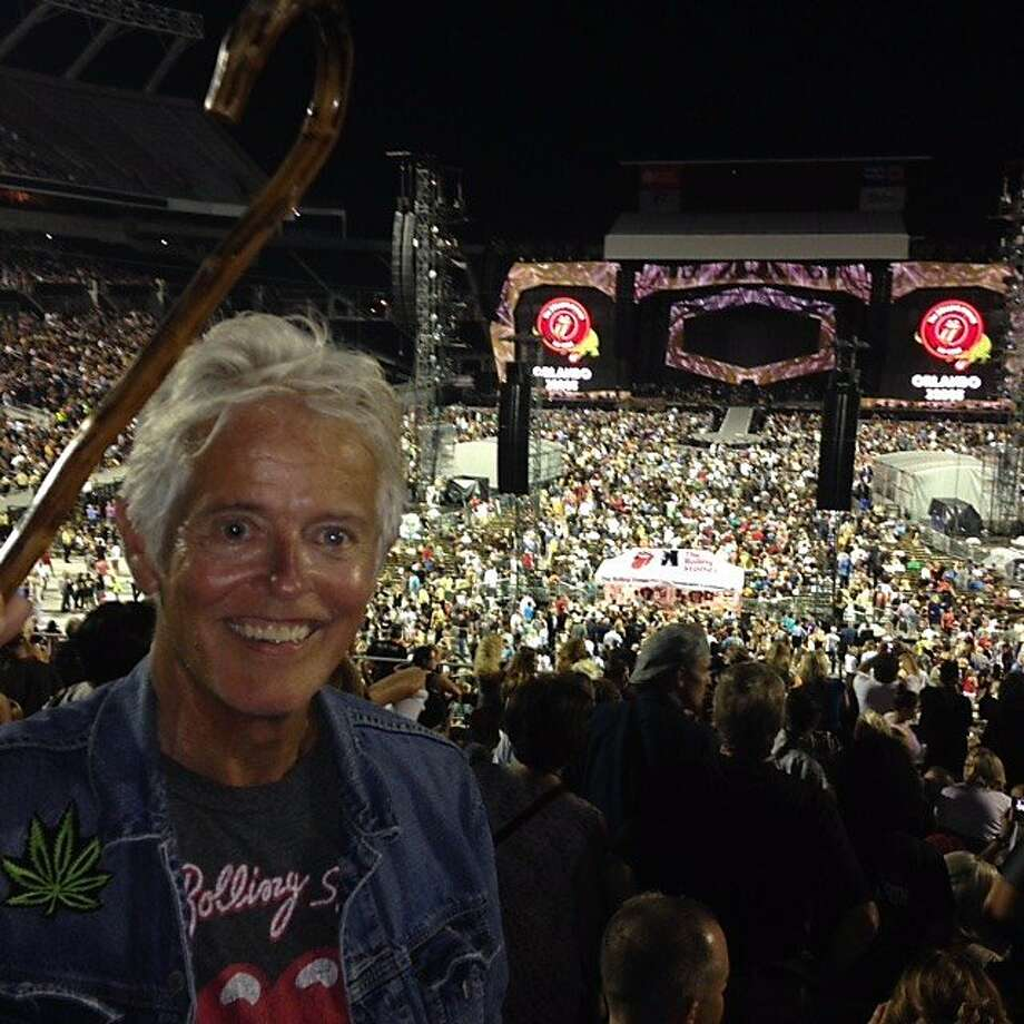 Barr Nobles at the Rolling Stones concert in Orlando in June, just before he was diagnosed with terminal lung cancer. Photo: Barr Dylan Nobles, Handout