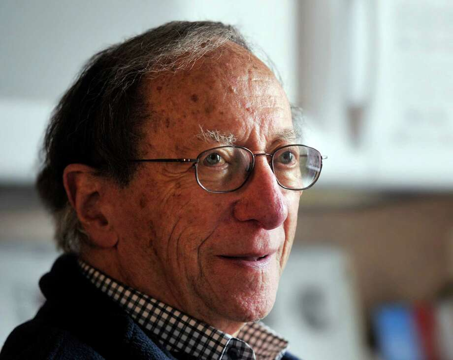 Kurt Zimbler, 83, in his Stamford home. Photo: Bob Luckey Jr. / Hearst Connecticut Media / Greenwich Time