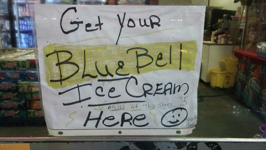 Blue Bell Ice Cream is being sold at a gas station in Vidor. Photo: Enterprise Staff