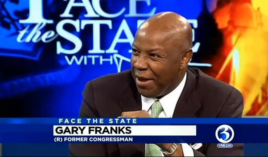 """Former U.S. Rep. Gary Franks, R-Conn., is seen during a September 2015 television interview with Dennis House on WFSB Channel 3's """"Face the State."""" Photo: Contributed Photo / Contributed Photo"""