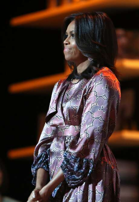 """First lady Michelle Obama will discuss """"Women of Honor."""" Photo: Faisal Al-tamimi, AFP / Getty Images"""