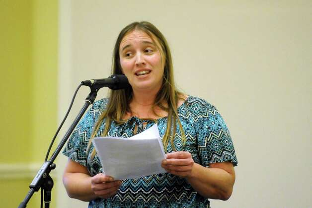 Shenedehowa parent Briana Bays of Clifton Park speaks during a public hearing held by the New York State Common Core Task Force at The Crossings on Friday Nov. 6, 2015 in Colonie, N.Y.  (Michael P. Farrell/Times Union) Photo: Michael P. Farrell / 00034130A
