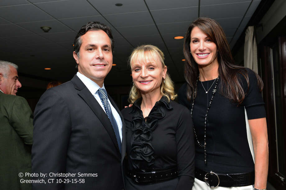 From left: Dr. Mark Melendez, cosmetic and reconstructive surgery; Marcia OâÄôKane, president of  Greenwich Chamber of Commerce, and producer Nancy Armstrong at the  Greenwich Chamber of Commerce's biannual Women Who Matter luncheon. Photo: Contributed / Contributed Photo / CHRISTOPHER SEMMESGREENWICH,CT 06831