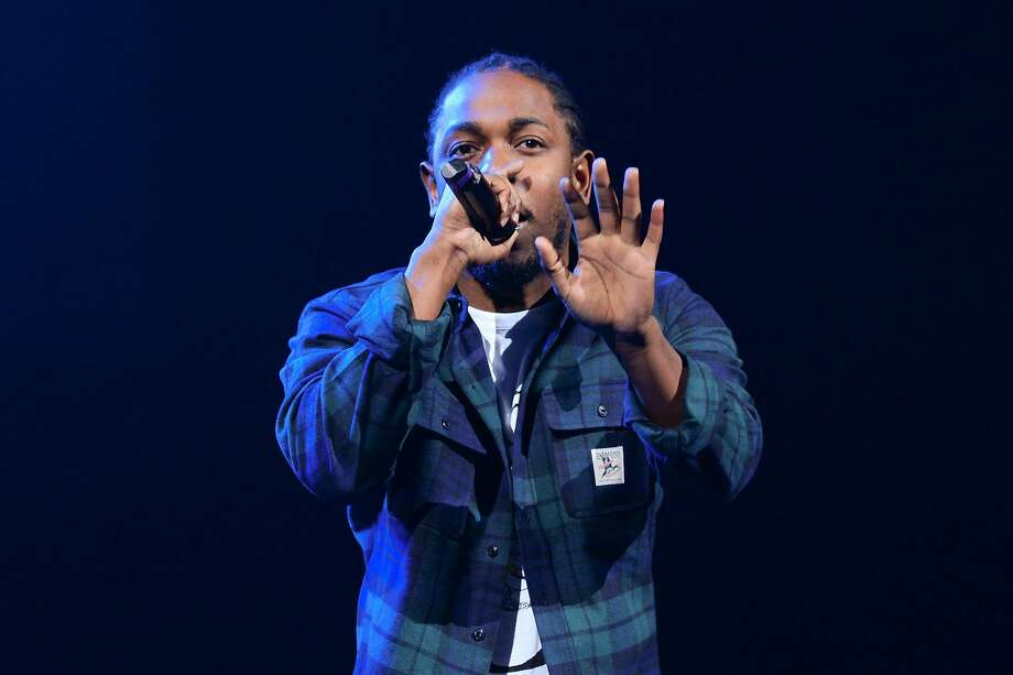 Rapper Kendrick Lamar performs at Power 105.1's Powerhouse 2015 at Barclays Center on Thursday, Oct. 22, 2015, in New York. (Photo by Scott Roth/Invision/AP) Photo: Scott Roth, Associated Press