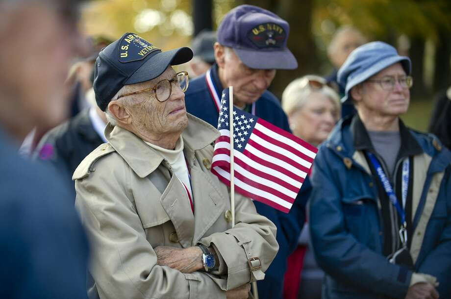 The annual Community Walk and down Greenwich Ave. and Greenwich American Legion ceremony in Greenwich, Conn., on Veteran's Day, Tuesday, November 11, 2014. Photo: Lindsay Perry