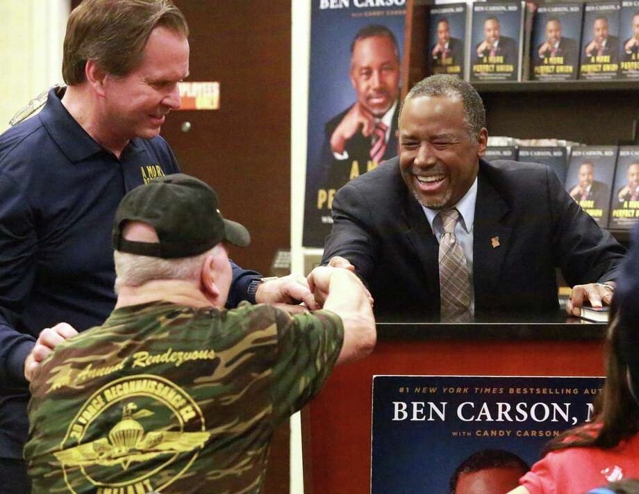 "Republican presidential candidate Ben Carson said about criticism of his statements: ""When I go out to these book signings and I see these thousands of people, they say, 'Don't let the media get you down.'"" Photo: Carline Jean, MBR / Sun Sentinel"