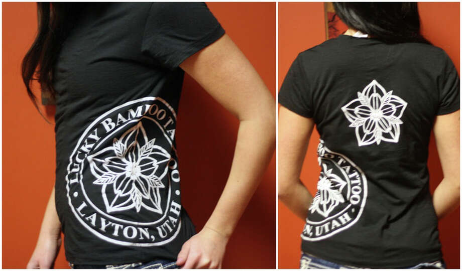 """A woman whoses body was found burning in the 8000 block of S. W.W.White Road in August was wearing a T-shirt similar to the one shown. It shirt reads """"Lucky Bamboo Tattoo. Layton, Utah."""" Photo: Bexar County Sheriff's Office /Courtesy Photo / Bexar County Sheriff"""