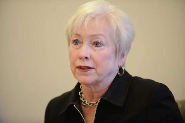 SUNY Chancellor Nancy Zimpher answers questions during a Times Union editorial board meeting Thursday, March 19, 2015, in Colonie, N.Y. (Will Waldron/Times Union) Photo: WW / 00031079A