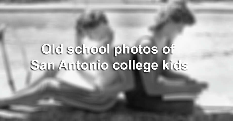 Old school photos of San Antonio college kids.