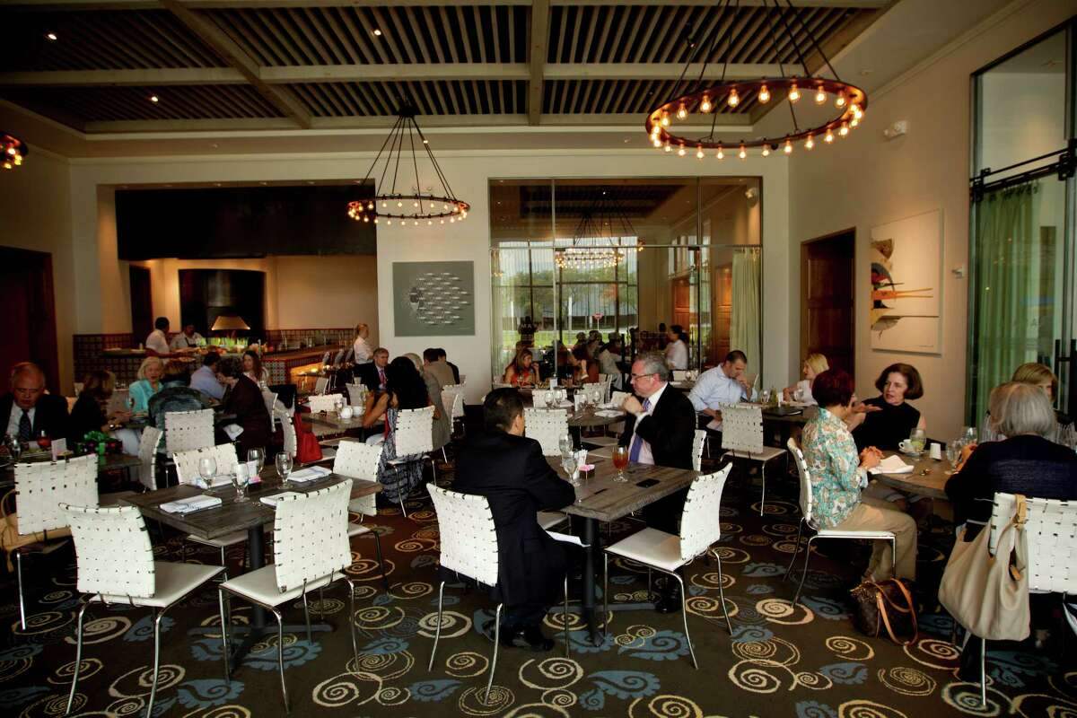 HOUSTON'S RANK Houstonians report eating lunch/dinner out 4.7 times a week on average, ranking Houston No. 11 behind Miami (5.1), New York (4.9), Honolulu (4.9) and three other Texas cities. Pictured: Caracol