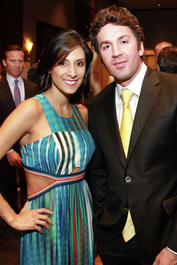 Andi Chambers and Blake Segura at Una Notte in Italia, presented by Festari for Men and benefiting Bo's Place. (For the Chronicle/Gary Fountain, November 6, 2015) Photo: Gary Fountain, Gary Fountain/For The Chronicle / Copyright 2015 Gary Fountain