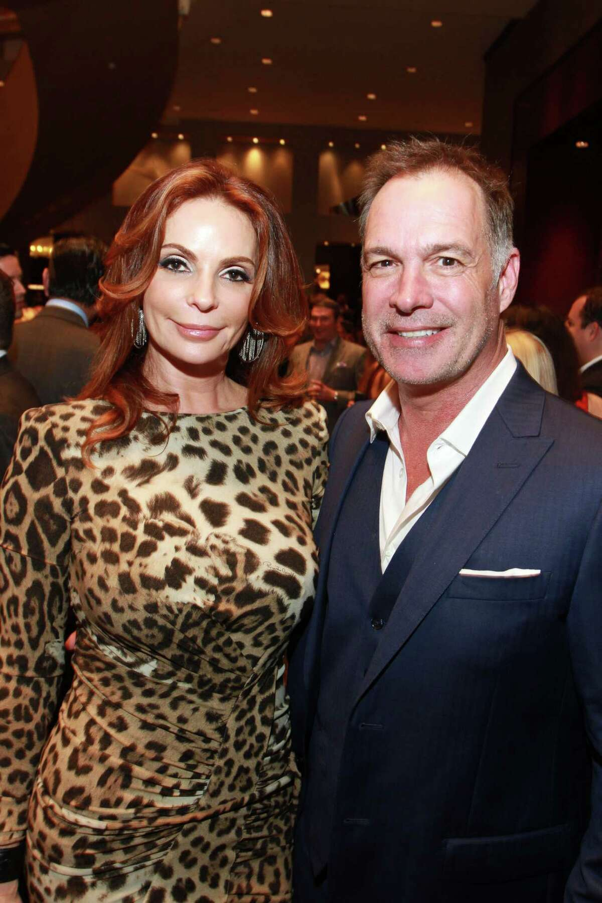 Regina and Mark Duke at Una Notte in Italia, presented by Festari for Men and benefiting Bo's Place. (For the Chronicle/Gary Fountain, November 6, 2015)
