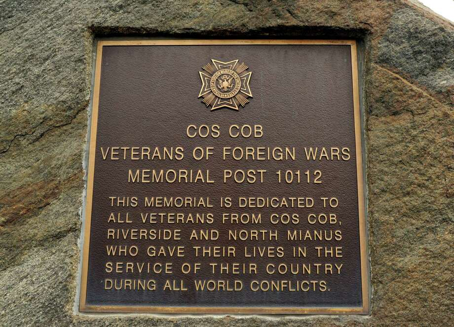 The Veteran's Day Memorial service at the Cos Cob War Memorial on Strickland Road in the Cos Cob section of Greenwich, Conn., Saturday morning, Nov. 7, 2015. Photo: Bob Luckey Jr., Hearst Connecticut Media / Greenwich Time