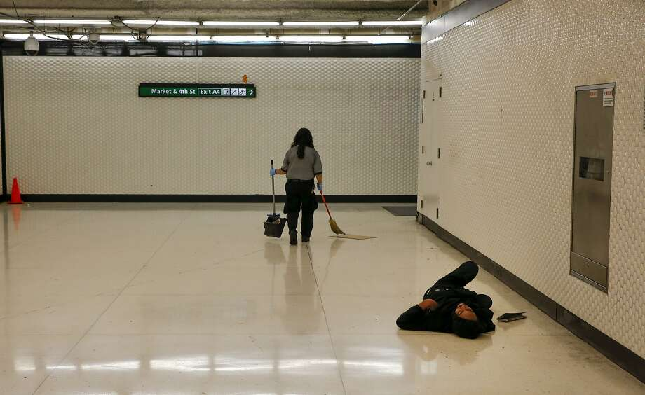 BART's Powell Street station in San Francisco, Calif. as seen on Sat. November 7, 2015. BART is considering a remake of the station is hopes of improving the look of the unsightly ceilings, cracked floors, dirty walls and generally grimy appearance. Photo: Michael Macor, The Chronicle