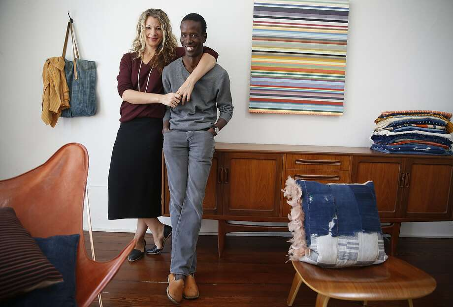 Petel founders Julie and Ibrahima Wagne at their home in S.F. Photo: Liz Hafalia, The Chronicle