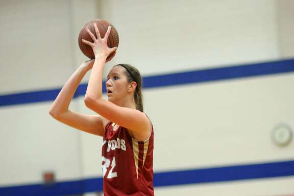 Cy-Woods junior post Nancy Mulkey sets for a jumper against Cy-Springs during their game at Clear Springs High School on Jan. 9.