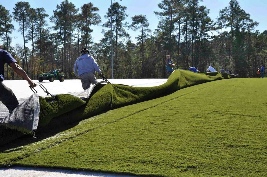 The Township opted to switch six of its sports fields at the Bear Branch and Alden Bridge sports complexes to synthetic turf three years ago because the fake grass is far less susceptible to rain-outs and is more cost effective, saving the Township hundreds of thousands of dollars in watering and maintenance over the lifetime of the field. Photo: Courtesy / The Woodlands Township