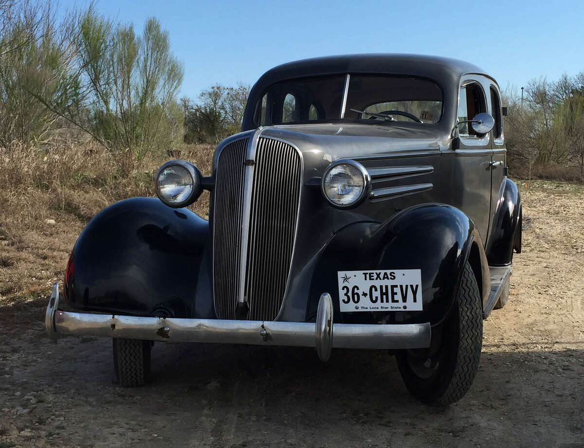 """This 1936 Chevrolet is a type that could have been sold by Smith Chevrolet at its location on Broadway's """"Motor Row."""""""