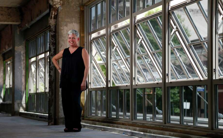 Brooke Summers-Perry stands in the The Bishop John E. Hines Center for Spirituality and Prayer, which will occupy two floors of a former stationery and printing building at 500 Fannin. Photo: Karen Warren, Staff / © 2015 Houston Chronicle