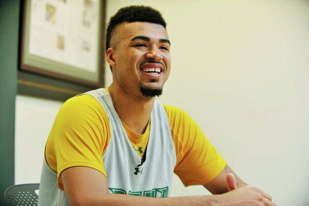 Siena basketball player Javion Oguenyemi talks about his life during an interview on Thursday, Nov. 5, 2015 at the college in Loudonville, N.Y. (Paul Buckowski / Times Union) Photo: PAUL BUCKOWSKI / 00034096A