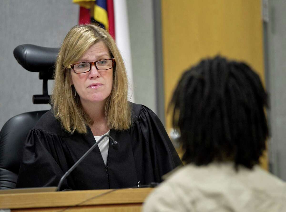 State District Judge Julie Kocurek, shown in March 2014, returned to the bench in January 2016, three months after being shot in an ambush at her home.