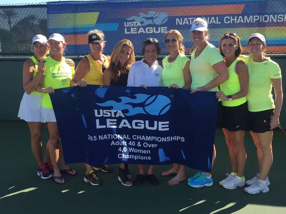 A women's tennis team based out of Kings Highway Tennis Club in Darien, won the USTA League Adult 40 & Over 4.0 National Championship last week in Indian Wells, Calif. The team, which includes two Greenwich residents, went 5-0 in the tournament. Photo: Contributed Photo /