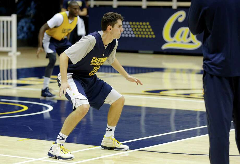 Guard Nick Kerr runs a drill during Cal Bears men's basketball practice in Berkeley, California, on Wednesday, Oct. 7, 2015. Photo: Connor Radnovich / The Chronicle / ONLINE_YES