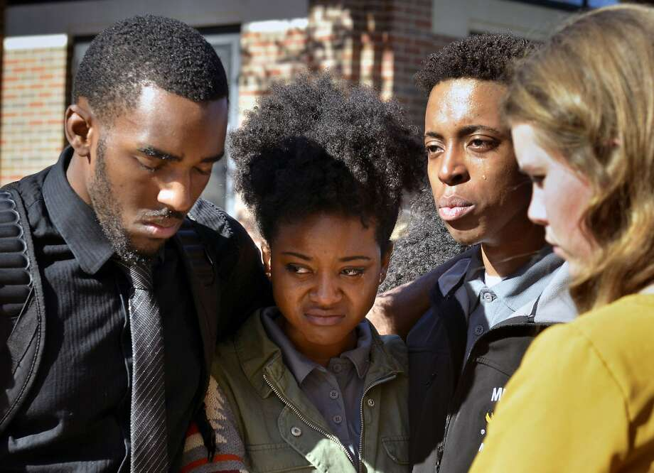 University of Missouri students have joined protests against the way school President Tim Wolfe has addressed complaints of racial harassment. Wolfe says he's committed to change. Photo: Ellise Verheyen, Associated Press