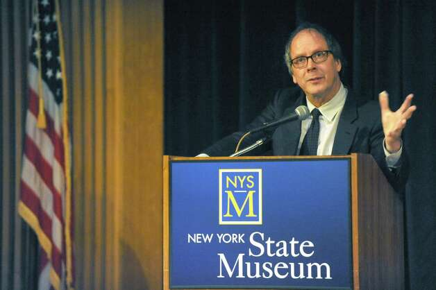 Documentarian Ric Burns introduces his documentary film Debt of Honor at the New York State Museum on Tuesday Oct. 27, 2015 in Albany, N.Y.  (Michael P. Farrell/Times Union) Photo: Michael P. Farrell / 00033966A