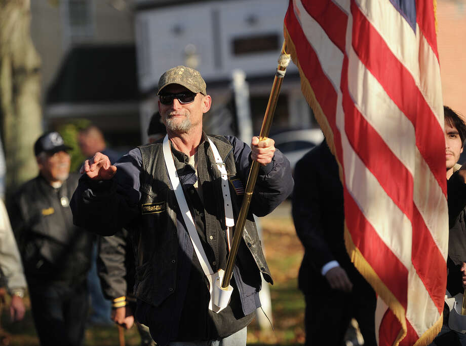 The annual Veteran's Day parade on Broad Street in Milford, Conn. on Sunday, November 8, 2015. Photo: Brian A. Pounds, Hearst Connecticut Media / Connecticut Post
