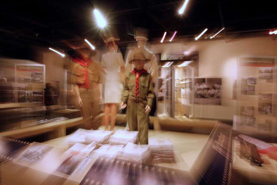 """Scrap drive was a community projected exhibited in this part of  a Veteran's Day story about the Institute of Texan Cultures' exhibit """"Our Part of Victory,"""" that features artifacts from everyday Texans who fought on the battlefield and supported the home front on Friday, November 6, 2015 at the Institute of Texan Cultures. Photo: Ron Cortes, Photographer / For The San Anton / Express-News"""