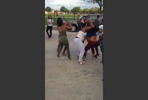 Teenage girl gets run over by car during street fight