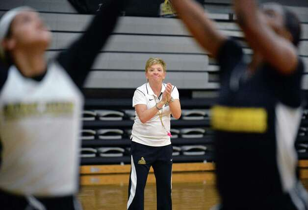 College of Saint Rose women's basketball head coach Karen Haag runs a team practice Thursday Nov. 5, 2015 in Albany, NY. .(John Carl D'Annibale / Times Union) Photo: John Carl D'Annibale / 00034103A