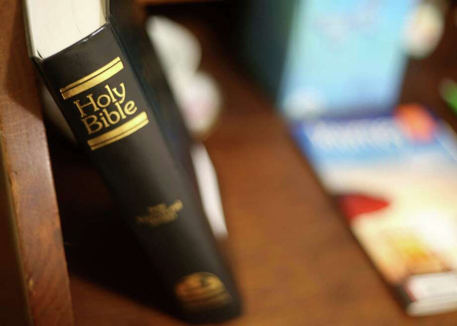 Ever room at the Hospitality House has a bible in the room on Friday, Oct. 30, 2015, in Huntsville. Photo: Elizabeth Conley, Houston Chronicle / © 2015 Houston Chronicle