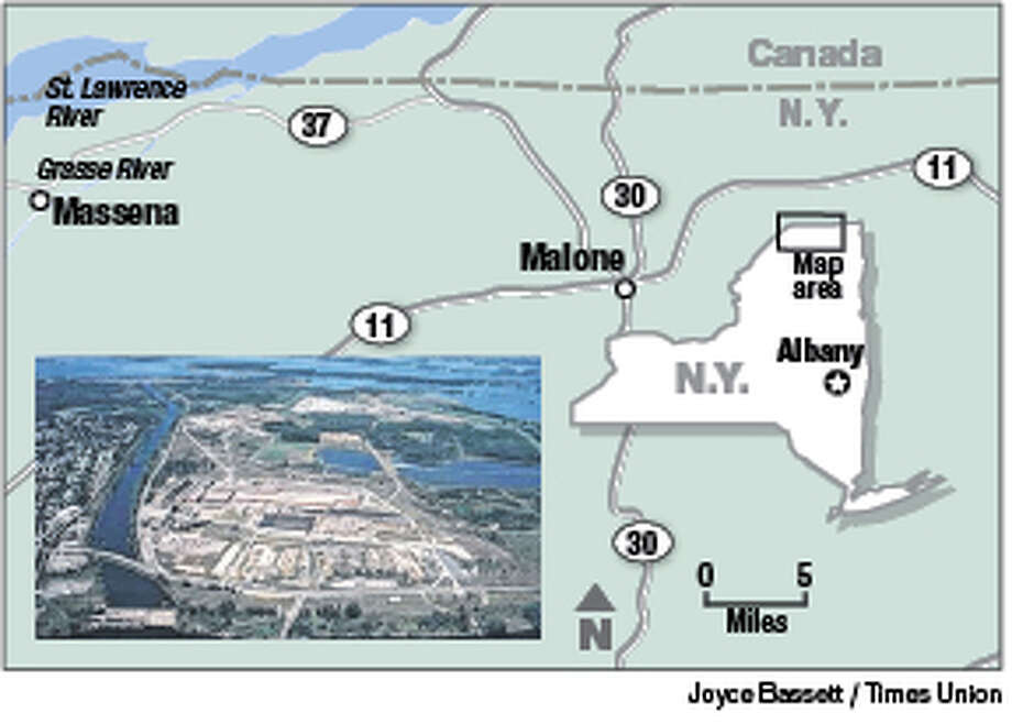 The 2,700-acre Alcoa Massena Plant includes 16 Superfund sites. It sits on the shores of the Grasse and St. Lawrence rivers.