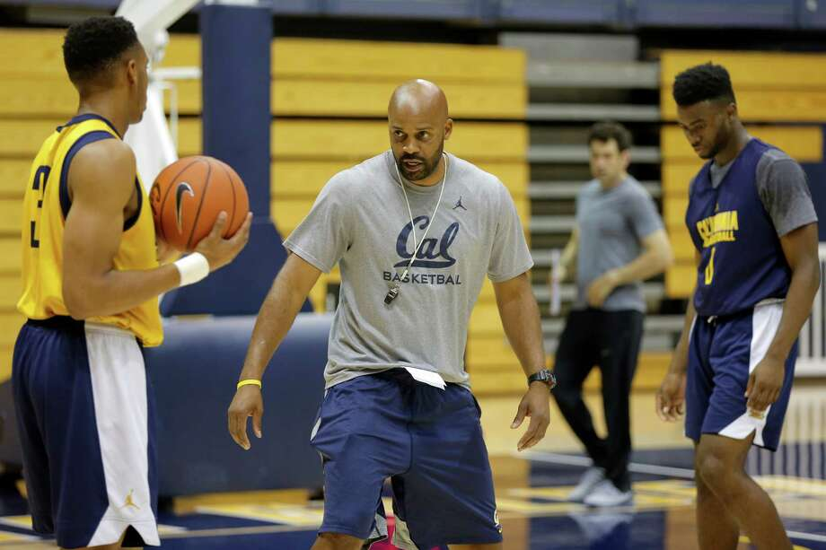 Head coach Cuonzo Martin explains a drill during Cal Bears men's basketball practice in Berkeley, California, on Wednesday, Oct. 7, 2015. Photo: Connor Radnovich / The Chronicle / ONLINE_YES