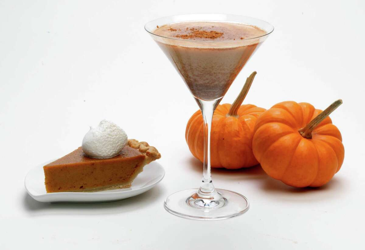 RumChata Pumpkin Pie Martini 2 ounces RumChata1 ounce vanilla vodka1 ounce pumpkin liqueur (or substitute 3 tablespoons pumpkin pie filling)Cinnamon to tasteCombine spirits in a shaker filled with ice. Shake and strain into a martini glass. Sprinkle top with cinnamon. (RumChata is a rum-based cream liqueur with a touch of cinnamon and vanilla.)