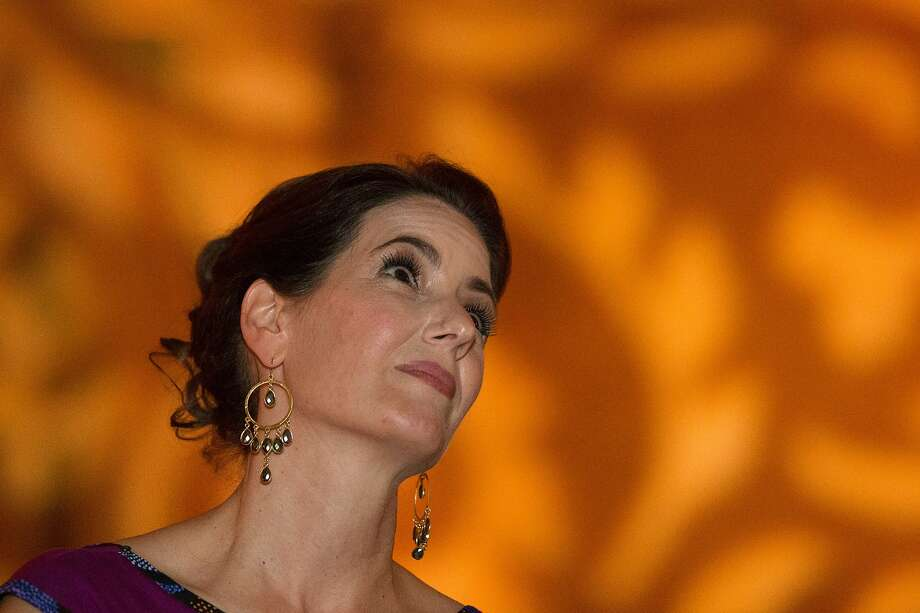 Mayor of Oakland, Libby Schaaf, watches a video about the success of East Bay College Fund on Saturday, Nov. 7, 2015 in Oakland, Calif. Photo: Nathaniel Y. Downes, The Chronicle