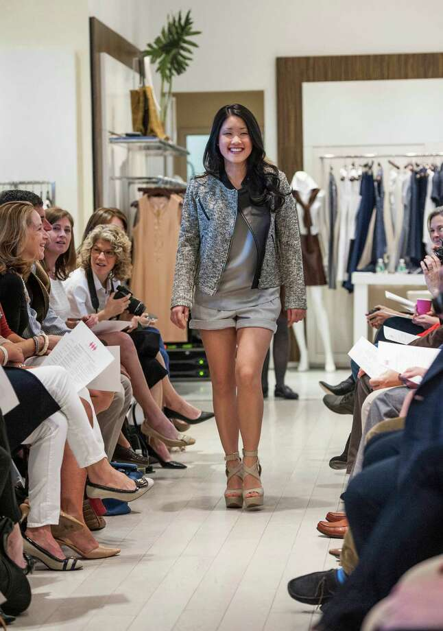 In this file photo, Hiromi Tera, a Greenwich Academy graduate, walks down the runway during the school's 10th Annual Juniors Fashion Show to raise funds for the Breast Cancer Alliance organization. Photo: Mark Conrad / Mark Conrad / Connecticut Post Freelance