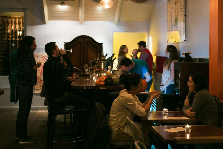 The Fine Mousse, at Jackson and Taylor streets in Nob Hill, serves snacks and sparkling wine. Photo: Jen Fedrizzi, Special To The Chronicle
