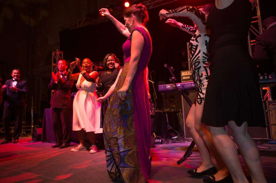 Mayor of Oakland, Libby Schaaf, dances with her staff at her 50th birthday celebration on Saturday, Nov. 7, 2015 in Oakland, Calif. Photo: Nathaniel Y. Downes, The Chronicle