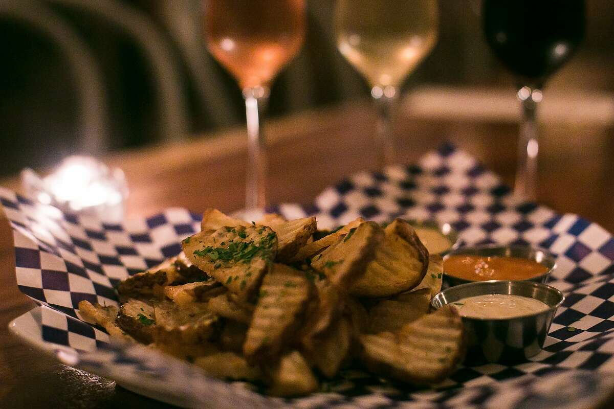 The Fine Mousse in the Nob Hill area of S.F. specializes in the pairing of Champagne and sparkling wines with french fries.
