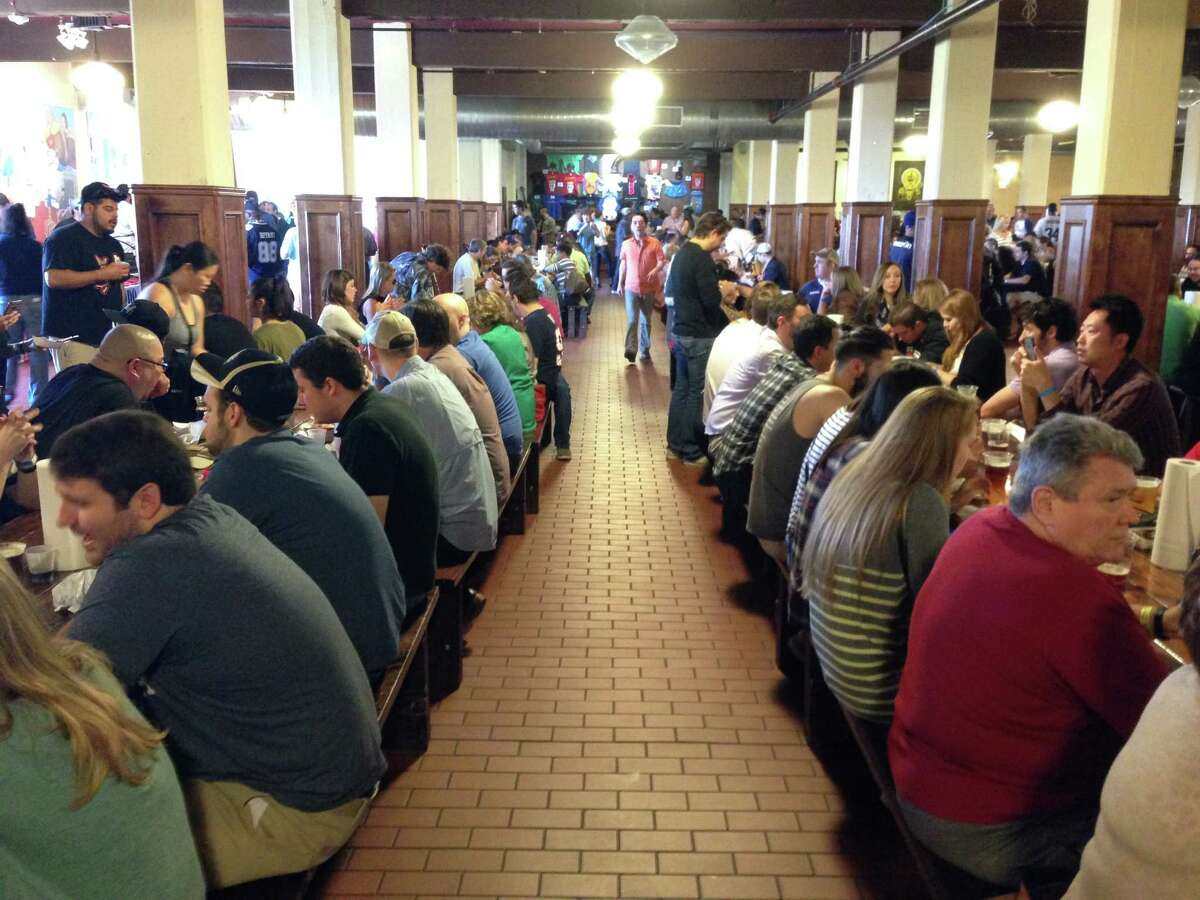 The crowd at the first Houston BBQ Throwdown sponsored by the Houston Barbecue Festival and Saint Arnold Brewing Co. on Sunday, Nov. 8 at Saint Arnold.