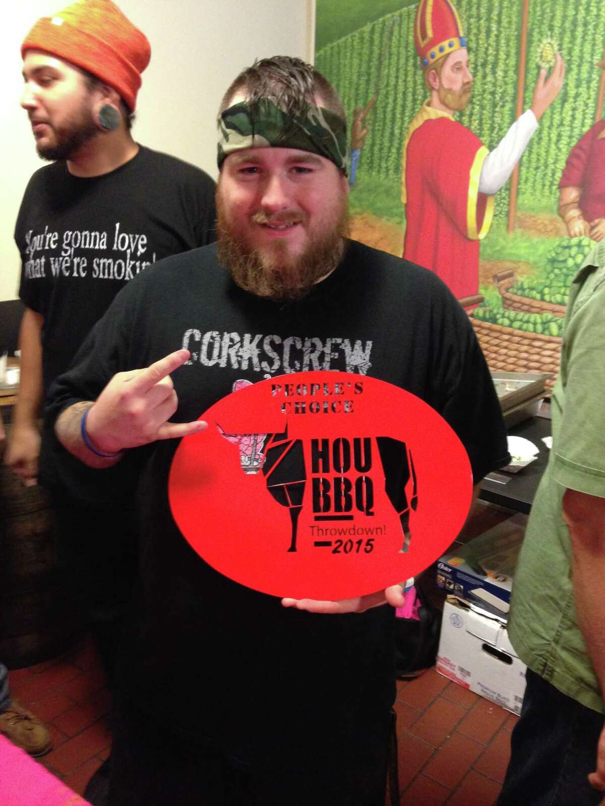 CorkScrew BBQ won the People's Choice Award (for its prime brisket and Texas caviar taco) at the first Houston BBQ Throwdown sponsored by the Houston Barbecue Festival and Saint Arnold Brewing Co. on Sunday, Nov. 8 at Saint Arnold.