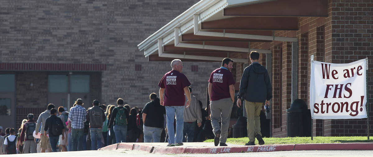 The students at Floresville High School walked out of class on Friday.